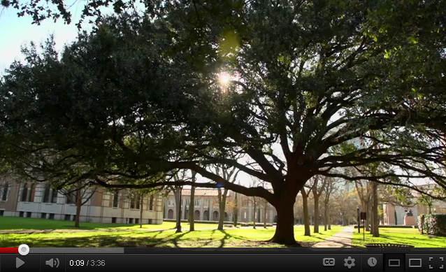 "Rice University ""Tree Campus USA"" video still"