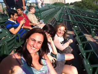 ESL students enjoying a recent Rice University vs. Texas State baseball game.