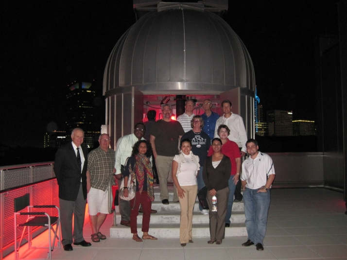 MLS Students at the Rice Observatory