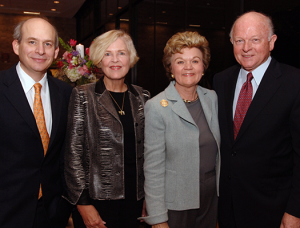Rice University President David Leebron, Dean  Mary McIntire, Susie Glasscock and Melbern Glasscock