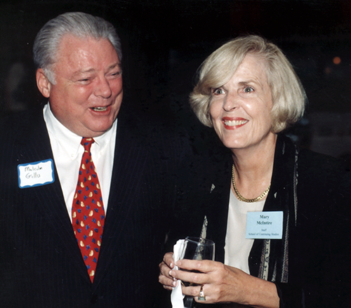 Rice President Malcolm Gillis and Dean Mary McIntire, 25th Anniversary Gala