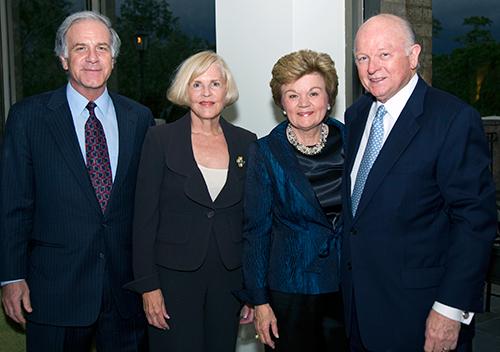Jim Pomerantz, Dean Mary McIntire, Susanne Glasscock, Melbern Glasscock, 40th Anniversary Gala