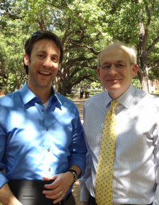 David Eagleman and Rice President David Leebron