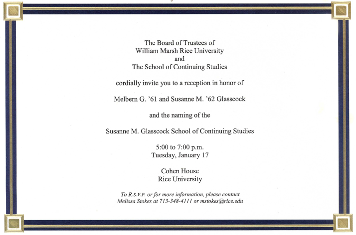 Naming Reception Invitation