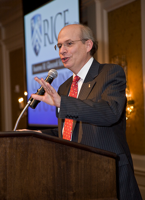 Rice President David Leebron