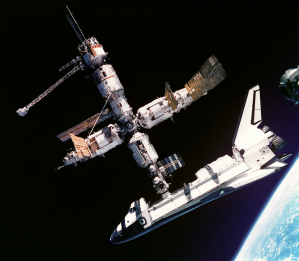 Mir Space Station & Shuttle Atlantis