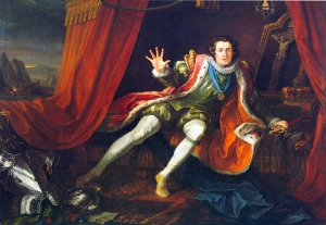 """Garrick as Richard III,"" oil on canvas by William Hogarth, 1745."