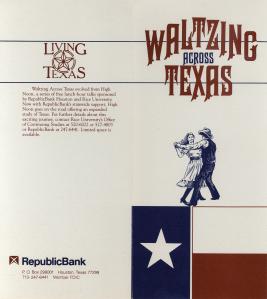 Waltzing Across Texas Brochure