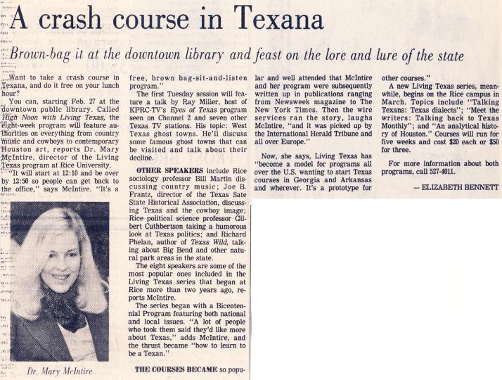 Crash Course in Texana