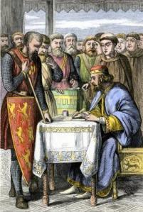 King John of England signing Magna Carta