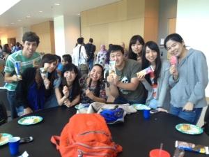 ESL Stduents Enjoying Ice Cream