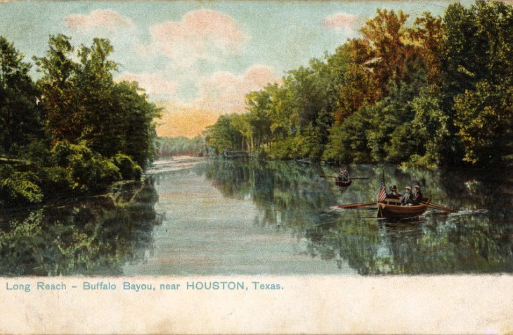 Buffalo Bayou, Houston, 1908.
