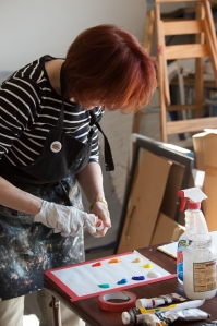 Ellen Orseck at Work by Janet Roe