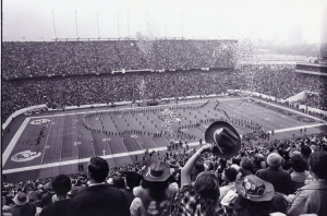 Super Bowl football game at Rice University stadium, 1974.