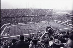 Super Bowl football game at Rice University stadium, 1974.