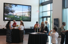 Reception in the Dean's Commons of the Anderson-Clarke Center.